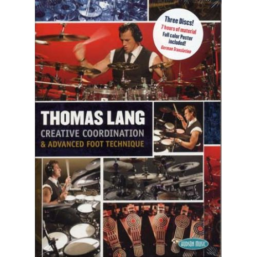 HAL LEONARD LANG THOMAS - CREATIVE COORDINATION & ADVANCE FOOT TECHNIQUE III - BATTERIE