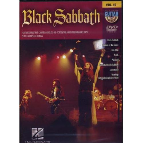 HAL LEONARD BLACK SABBATH - GUITAR PLAY ALONG VOL.15