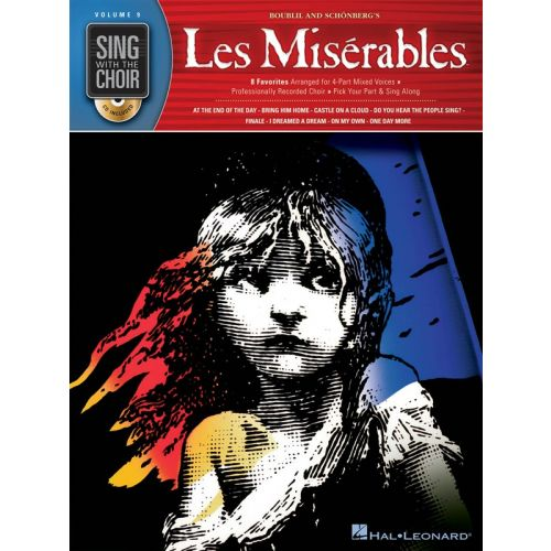 HAL LEONARD SING WITH THE CHOIR VOLUME 9 LES MISERABLES CHOR BOOK/C - SATB