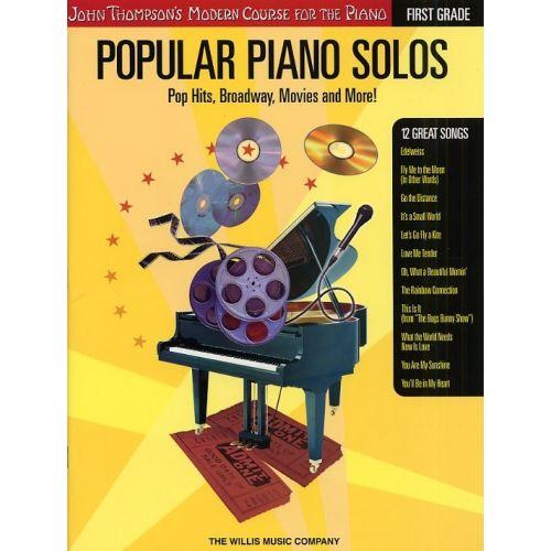 HAL LEONARD THOMPSON POPULAR PIANO SOLOS FIRST GRADE + CD