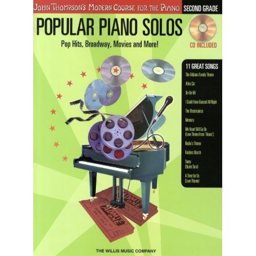HAL LEONARD POPULAR PIANO SOLOS 2ND GRADE POP HITS, BROADWAY, MOVIES AND MORE! - PIANO SOLO