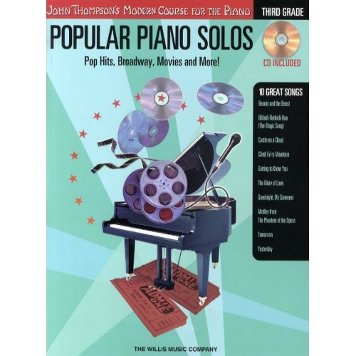 HAL LEONARD POPULAR PIANO SOLOS - 3RD GRADE - POP HITS, BROADWAY, MOVIES AND MORE! - PIANO SOLO
