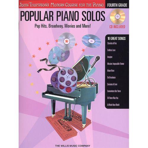 HAL LEONARD JOHN THOMPSON'S MODERN PIANO COURSE POPULAR PIANO SOLOS FOURTH GRAD - PIANO SOLO