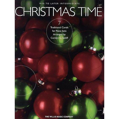 HAL LEONARD CHRISTMAS TIME 7 TRADITIONAL CAROLS - PIANO SOLO