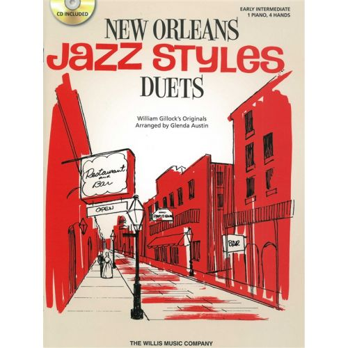 THE WILLIS MUSIC COMPANY WILLIAM GILLOCK NEW ORLEANS JAZZ STYLE DUETS + CD - PIANO DUET