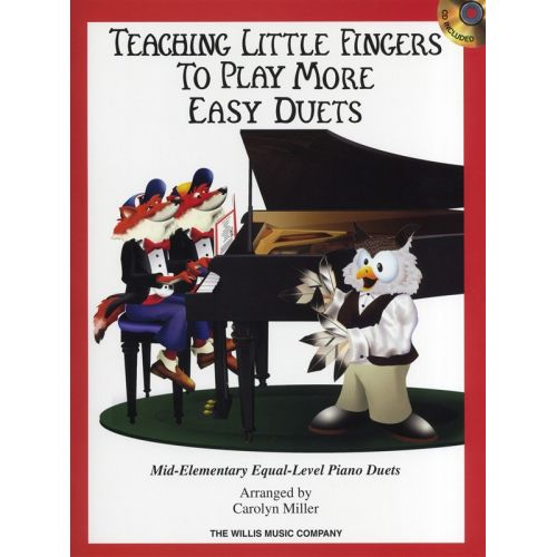 HAL LEONARD TEACHING LITTLE FINGERS TO PLAY MORE EASY DUETS PIANO DUET + CD - PIANO DUET