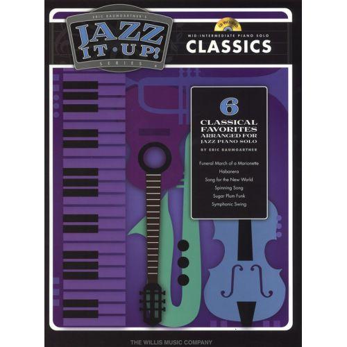 HAL LEONARD JAZZ IT UP CLASSICS MID-INTERMEDIATE + CD - PIANO SOLO
