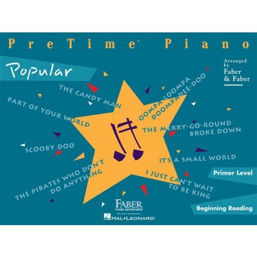 HAL LEONARD FABER NANCY AND RANDALL PRETIME PIANO POPULAR - PIANO SOLO