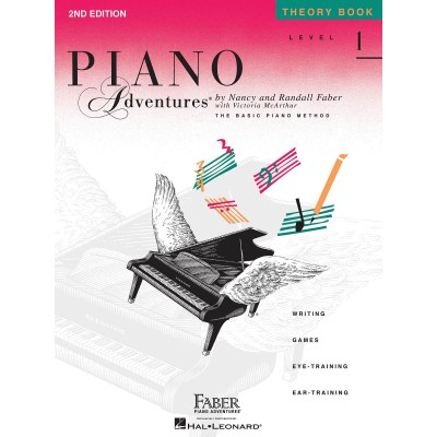 HAL LEONARD FABER NANCY & RANDALL - PIANO ADVENTURES - THEORY BOOK - LEVEL 1