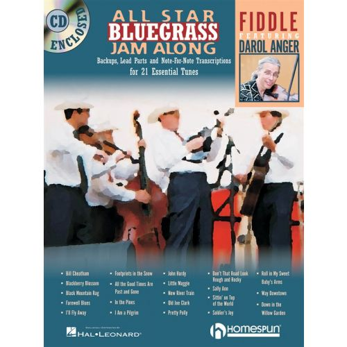 HAL LEONARD ALL STAR BLUEGRASS JAM ALONG FIDDLE + CD - VIOLIN