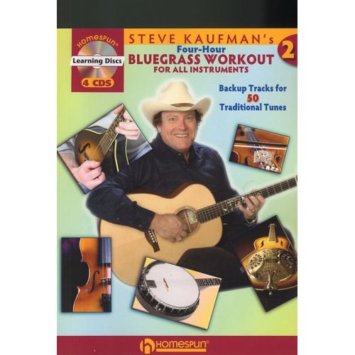 MUSIC SALES STEVE KAUFMAN'S FOUR-HOUR BLUEGRASS WORKOUT - ALL INSTRUMENTS