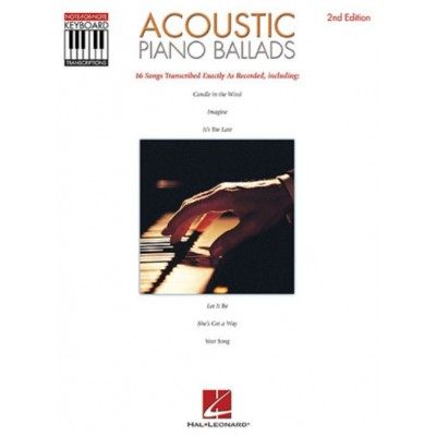 HAL LEONARD ACOUSTIC PIANO BALLADS - NOTE FOR NOTE KEYBOARD TRANSCRIPTIONS