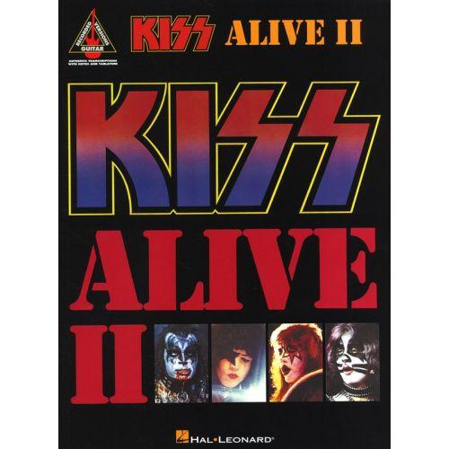 HAL LEONARD KISS ALIVE II GUITAR RECORDED VERSION - GUITAR TAB