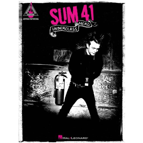 HAL LEONARD SUM 41 - UNDERCLASS HERO GUITAR RECORDED VERSION - GUITAR TAB
