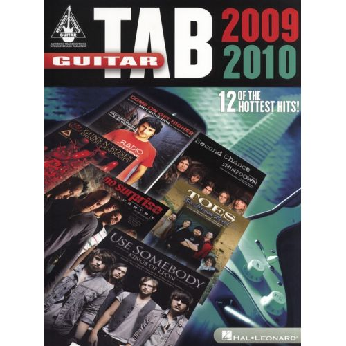HAL LEONARD GUITAR TAB 2009-2010 GUITAR RECORDED VERSION- GUITAR