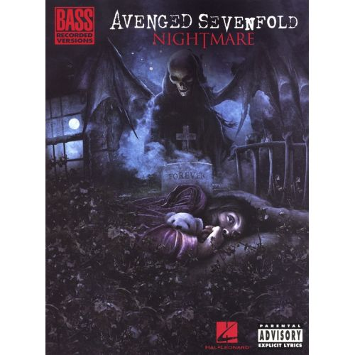 HAL LEONARD AVENGED SEVENFOLD NIGHTMARE BASS GUITAR RECORDED VERSION - BASS GUITAR TAB