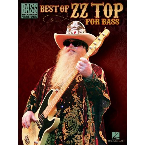 HAL LEONARD BEST OF ZZ TOP FOR BASS BRECORDED VERSIONS - BASS GUITAR