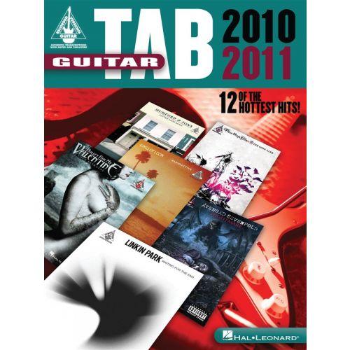 HAL LEONARD GUITAR TAB 2010 2011 12 OF THE HOTTEST HITS GUITAR REC VERS - GUITAR TAB