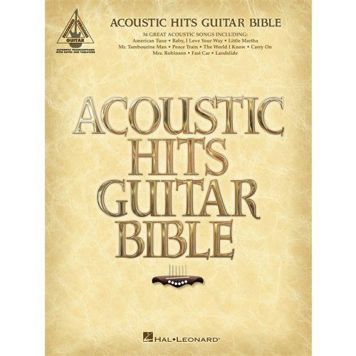 HAL LEONARD ACOUSTIC GUITAR HITS BIBLE GUITAR RECORDED VERSION - GUITAR TAB