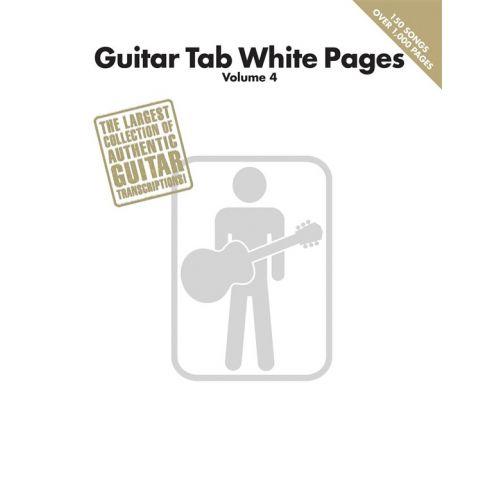 HAL LEONARD GUITAR TAB WHITE PAGES - VOLUME 4 - GUITAR TAB