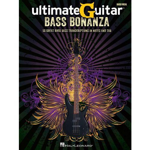 HAL LEONARD ULTIMATEGUITAR BASS BONANZA BASS RECORDED VERSIONS - BASS GUITAR