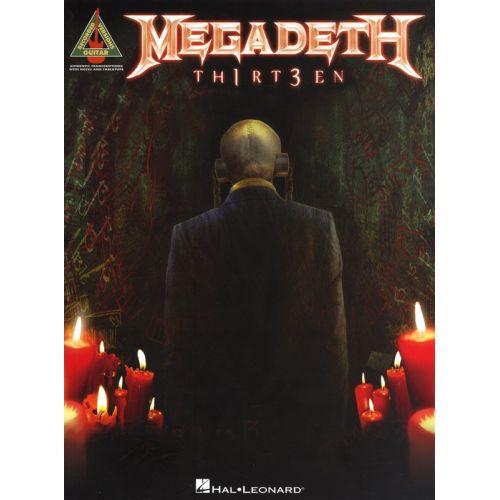 HAL LEONARD MEGADETH THIRTEEN GUITAR RECORDED VERSION - GUITAR TAB