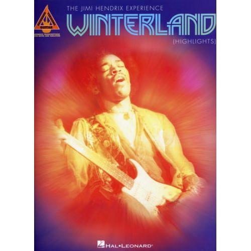 HAL LEONARD HENDRIX JIMI - WINTERLAND HIGHLIGHTS - GUITAR TAB
