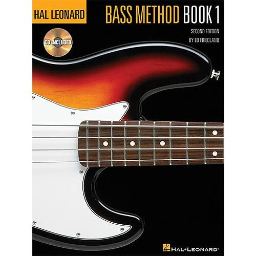 WARNER BROS HAL LEONARD BASS METHOD BOOK 1 + CD - BASS GUITAR