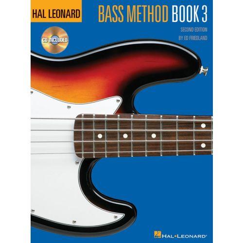 HAL LEONARD HAL LEONARD BASS METHOD BOOK 3 SECOND EDITION - BASS GUITAR
