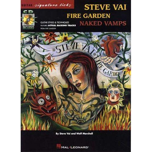 HAL LEONARD VAI STEVE - FIRE GARDEN SIGNATURE + CD - GUITAR TAB