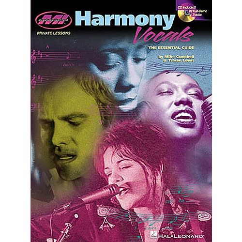 HAL LEONARD HARMONY VOCALS THE ESSENTIAL GUIDE + CD - VOICE
