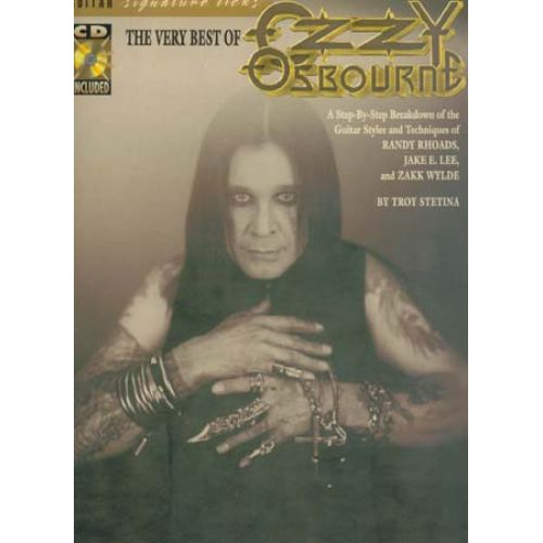HAL LEONARD THE VERY BEST OF OZZY OSBOURNE - SIGNATURE LICKS TAB + CD