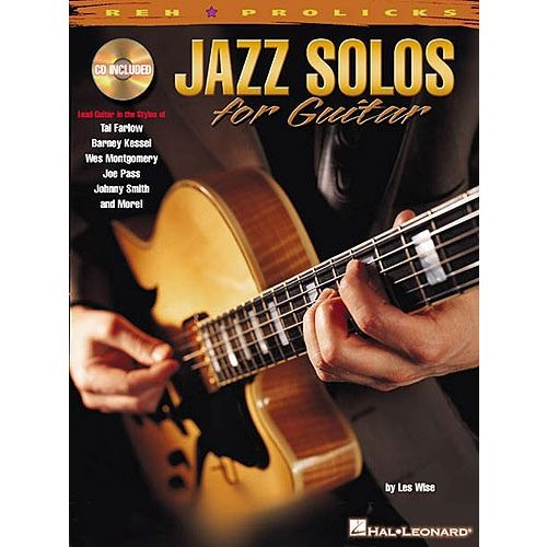 HAL LEONARD LES WISE - JAZZ SOLOS FOR GUITAR - GUITAR TAB