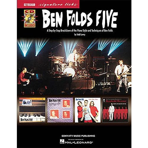 HAL LEONARD KEYBOARD SIGNATURE LICKS BEN FOLDS FIVE CD - PVG