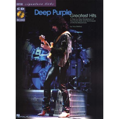 HAL LEONARD DEEP PURPLE - GREATEST HITS - SIGNATURE LICKS + CD - GUITAR TAB