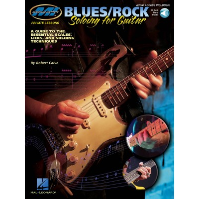 HAL LEONARD MI PRIVATE LESSONS BLUES/ROCK SOLOING FOR GUITAR + CD - GUITAR