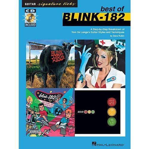 HAL LEONARD BEST OF BLINK-182 SIGNATURE LICKS STEP BY STEP GUITAR + CD - GUITAR TAB