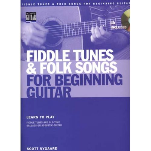 HAL LEONARD FIDDLE TUNES & FOLK SONGS + CD - GUITAR TAB