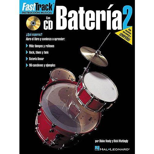 HAL LEONARD FAST TRACK BATERIA 2 DRUMS + CD - DRUMS