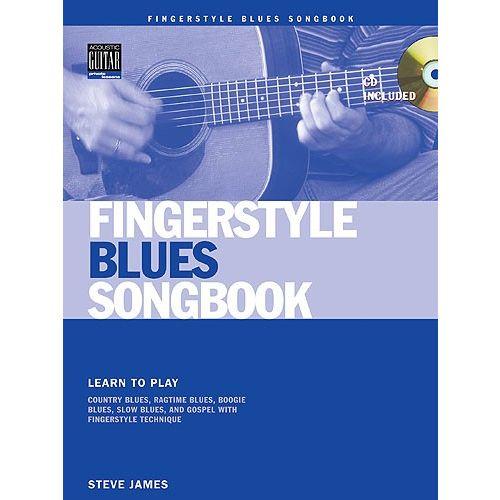 MUSIC SALES JAMES STEVE - FINGERSTYLE BLUES SONGBOOK+ CD - GUITAR TAB