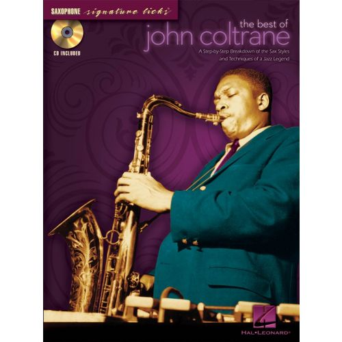 HAL LEONARD THE BEST OF JOHN COLTRANE+ CD - SAXOPHONE