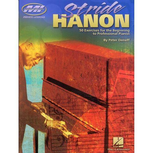 HAL LEONARD PETER DENEFF STRIDE HANON - PIANO SOLO