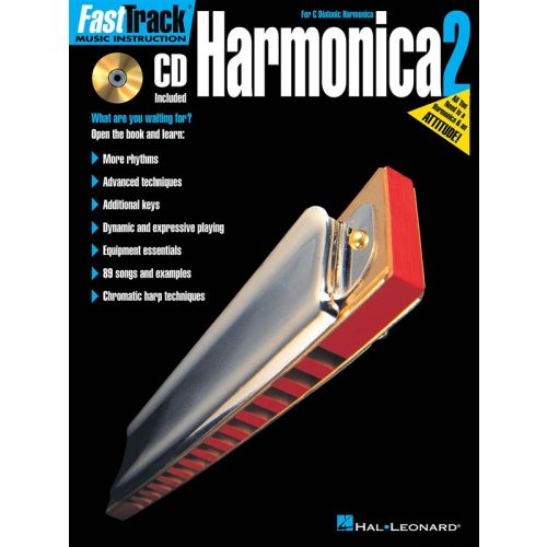 HAL LEONARD HARMONICA 2 FOR C DIATONIC HARMONICA - INTRODUCTION + CD - HARMONICA