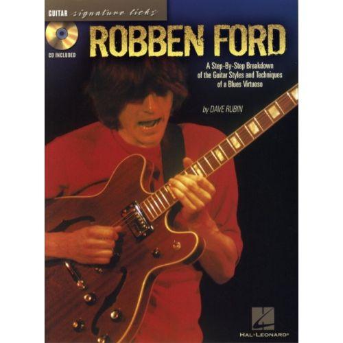HAL LEONARD FORD ROBBEN - SIGNATURE LICKS + CD - GUITAR TAB