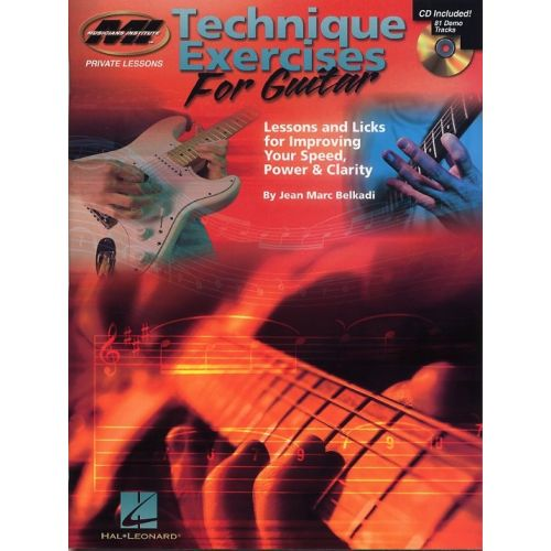 HAL LEONARD BELKADI JEAN MARC - TECHNIQUE EXERCICES FOR GUITAR