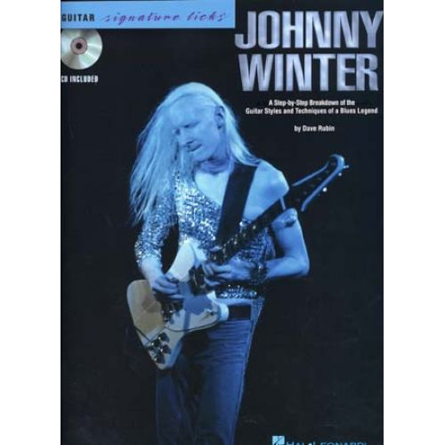 HAL LEONARD WINTER JOHNNY SIGNATURE LICKS TAB + CD