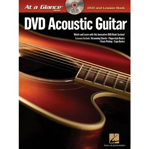 HAL LEONARD AT A GLANCE ACOUSTIC GUITAR + DVD - GUITAR