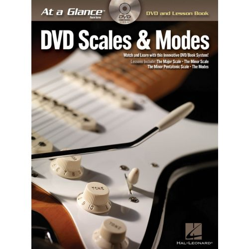 HAL LEONARD AT A GLANCE GUITAR SCALES AND MODES + DVD - GUITAR
