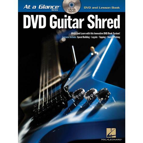 HAL LEONARD GUITAR SHRED AT A GLANCE GUITAR TAB + DVD - GUITAR TAB