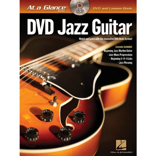 HAL LEONARD AT A GLANCE JAZZ GUITAR + DVD - GUITAR